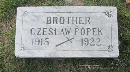 POPEK, CZESLAW - Lucas County, Ohio | CZESLAW POPEK - Ohio Gravestone Photos