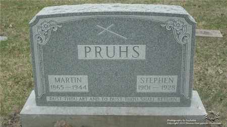PRUHS, MARTIN - Lucas County, Ohio | MARTIN PRUHS - Ohio Gravestone Photos