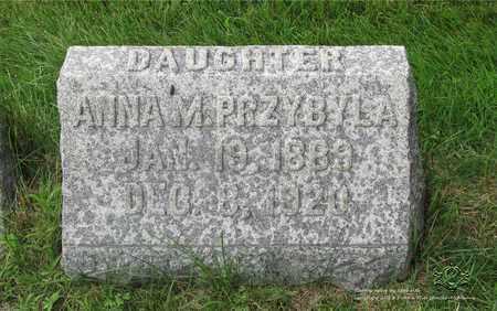 PRZYBYLA, ANNA M. - Lucas County, Ohio | ANNA M. PRZYBYLA - Ohio Gravestone Photos