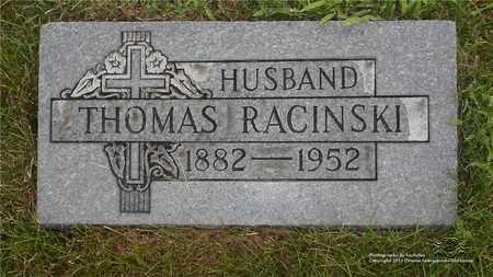 RACINSKI, THOMAS - Lucas County, Ohio | THOMAS RACINSKI - Ohio Gravestone Photos