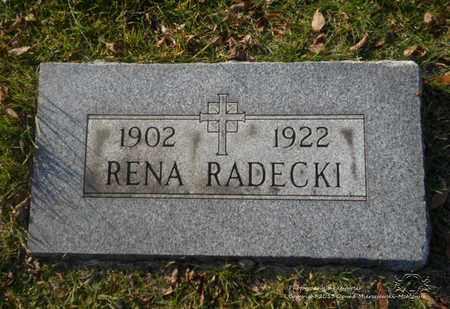 RADECKI, RENA - Lucas County, Ohio | RENA RADECKI - Ohio Gravestone Photos