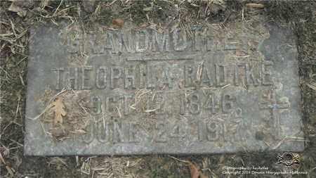 RADTKE, THEOPHILA - Lucas County, Ohio | THEOPHILA RADTKE - Ohio Gravestone Photos