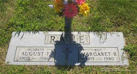 RAHE, AUGUST F. - Lucas County, Ohio   AUGUST F. RAHE - Ohio Gravestone Photos