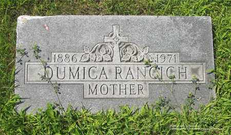 RANCICH, DUMICA - Lucas County, Ohio | DUMICA RANCICH - Ohio Gravestone Photos