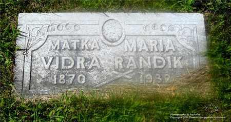 MASERIK RANDIK, MARIA - Lucas County, Ohio | MARIA MASERIK RANDIK - Ohio Gravestone Photos