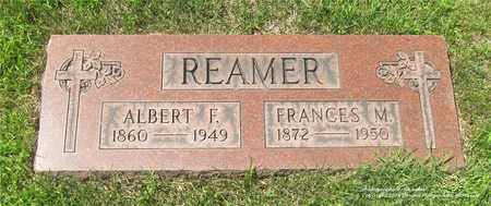 REAMER, ALBERT F. - Lucas County, Ohio   ALBERT F. REAMER - Ohio Gravestone Photos