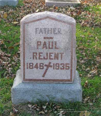 REJENT, PAUL - Lucas County, Ohio | PAUL REJENT - Ohio Gravestone Photos
