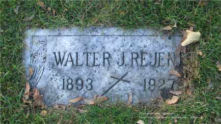 REJENT, WALTER J. - Lucas County, Ohio   WALTER J. REJENT - Ohio Gravestone Photos