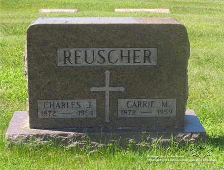 REUSCHER, CHARLES J. - Lucas County, Ohio | CHARLES J. REUSCHER - Ohio Gravestone Photos