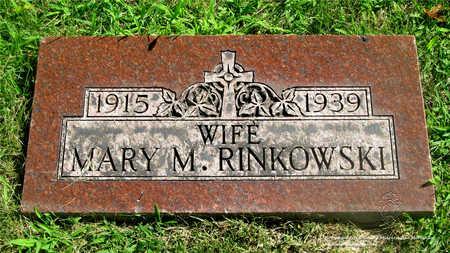 RINKOWSKI, MARY M. - Lucas County, Ohio | MARY M. RINKOWSKI - Ohio Gravestone Photos