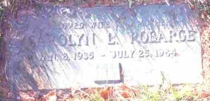 WYSONG ROBARGE, CAROLYN L. - Lucas County, Ohio | CAROLYN L. WYSONG ROBARGE - Ohio Gravestone Photos