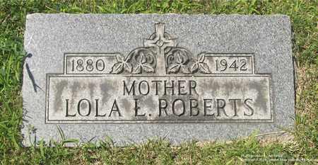 ROBERTS, LOLA L. - Lucas County, Ohio   LOLA L. ROBERTS - Ohio Gravestone Photos