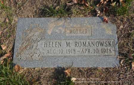 ROMANOWSKI, HELEN M. - Lucas County, Ohio | HELEN M. ROMANOWSKI - Ohio Gravestone Photos