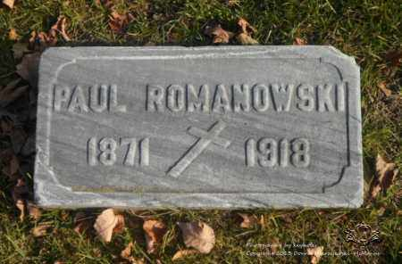 ROMANOWSKI, PAUL - Lucas County, Ohio   PAUL ROMANOWSKI - Ohio Gravestone Photos