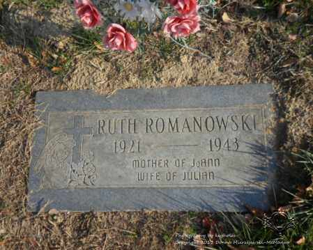 ROMANOWSKI, RUTH - Lucas County, Ohio   RUTH ROMANOWSKI - Ohio Gravestone Photos