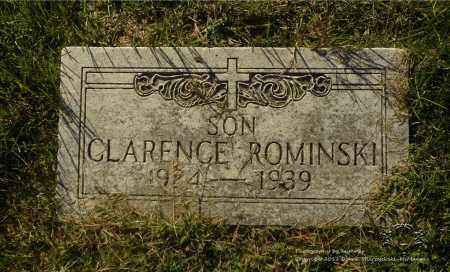 ROMINSKI, CLARENCE - Lucas County, Ohio   CLARENCE ROMINSKI - Ohio Gravestone Photos