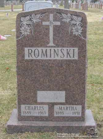 ROMINSKI, MARTHA - Lucas County, Ohio | MARTHA ROMINSKI - Ohio Gravestone Photos
