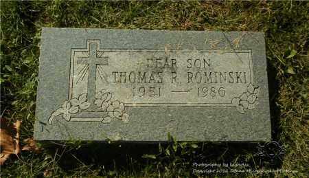 ROMINSKI, THOMAS R. - Lucas County, Ohio | THOMAS R. ROMINSKI - Ohio Gravestone Photos