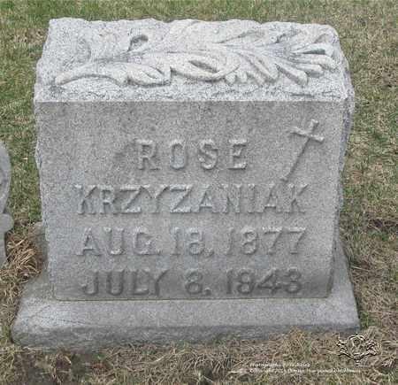CHUDZINSKI KRZYZANIAK, ROSE - Lucas County, Ohio   ROSE CHUDZINSKI KRZYZANIAK - Ohio Gravestone Photos
