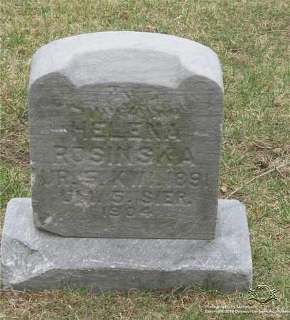 ROSINSKA, HELENA - Lucas County, Ohio | HELENA ROSINSKA - Ohio Gravestone Photos