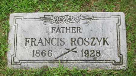 ROSZYK, FRANCIS - Lucas County, Ohio | FRANCIS ROSZYK - Ohio Gravestone Photos