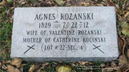 ROZANSKI, AGNES - Lucas County, Ohio   AGNES ROZANSKI - Ohio Gravestone Photos