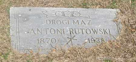RUTKOWSKI, ANTONI - Lucas County, Ohio | ANTONI RUTKOWSKI - Ohio Gravestone Photos