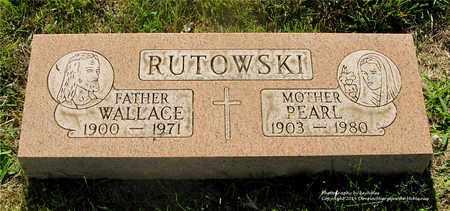 RUTOWSKI, WALLACE - Lucas County, Ohio | WALLACE RUTOWSKI - Ohio Gravestone Photos