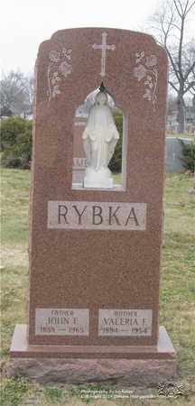 RYBKA, VALERIA F. - Lucas County, Ohio   VALERIA F. RYBKA - Ohio Gravestone Photos