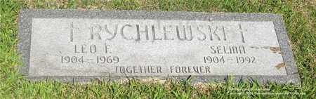 RYCHLEWSKI, SELMA - Lucas County, Ohio | SELMA RYCHLEWSKI - Ohio Gravestone Photos