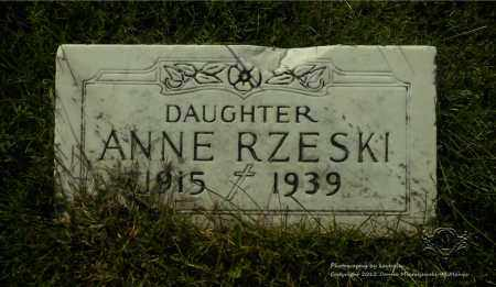 RZESKI, ANNE - Lucas County, Ohio | ANNE RZESKI - Ohio Gravestone Photos