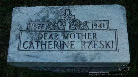 RZESKI, CATHERINE - Lucas County, Ohio | CATHERINE RZESKI - Ohio Gravestone Photos
