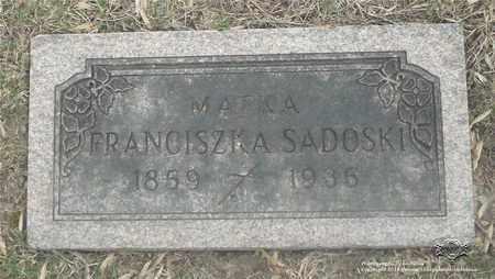 SADOSKI, FRANCISZKA - Lucas County, Ohio   FRANCISZKA SADOSKI - Ohio Gravestone Photos