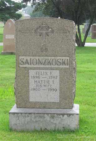 SAIONZKOSKI, FELIX F. - Lucas County, Ohio | FELIX F. SAIONZKOSKI - Ohio Gravestone Photos