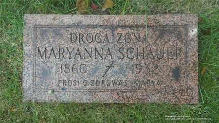 SCHAUER, MARYANNA - Lucas County, Ohio | MARYANNA SCHAUER - Ohio Gravestone Photos