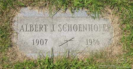 SCHOENHOFER, ALBERT J. - Lucas County, Ohio | ALBERT J. SCHOENHOFER - Ohio Gravestone Photos
