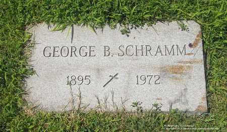 SCHRAMM, GEORGE B. - Lucas County, Ohio   GEORGE B. SCHRAMM - Ohio Gravestone Photos