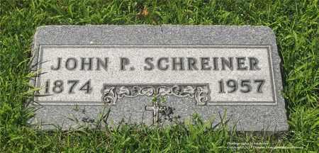 SCHREINER, JOHN P. - Lucas County, Ohio | JOHN P. SCHREINER - Ohio Gravestone Photos