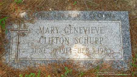 CLIFTON SCHUPP, MARY GENEVIEVE - Lucas County, Ohio | MARY GENEVIEVE CLIFTON SCHUPP - Ohio Gravestone Photos