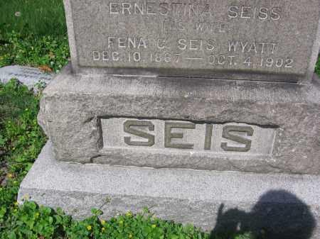 SEIS, ERNESTINA - Lucas County, Ohio   ERNESTINA SEIS - Ohio Gravestone Photos
