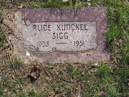 KUNCKEL SIGG, ALICE - Lucas County, Ohio | ALICE KUNCKEL SIGG - Ohio Gravestone Photos