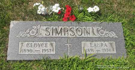 SIMPSON, LAURA - Lucas County, Ohio | LAURA SIMPSON - Ohio Gravestone Photos