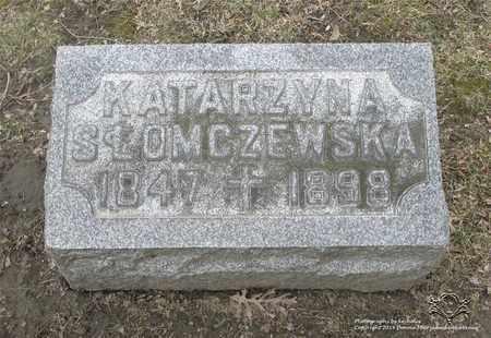 SLOMCZEWSKA, KATARZYNA - Lucas County, Ohio   KATARZYNA SLOMCZEWSKA - Ohio Gravestone Photos