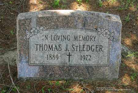 ST. LEDGER, THOMAS J. - Lucas County, Ohio   THOMAS J. ST. LEDGER - Ohio Gravestone Photos