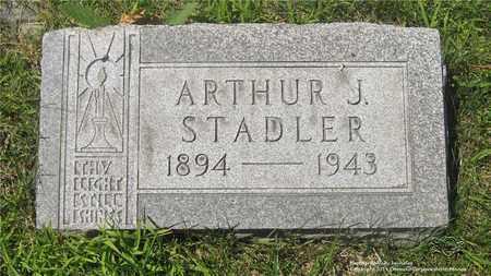STADLER, ARTHUR J. - Lucas County, Ohio | ARTHUR J. STADLER - Ohio Gravestone Photos