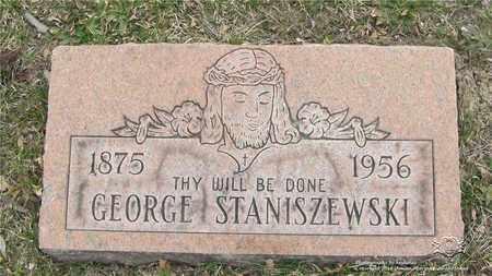 STANISZEWSKI, GEORGE - Lucas County, Ohio   GEORGE STANISZEWSKI - Ohio Gravestone Photos