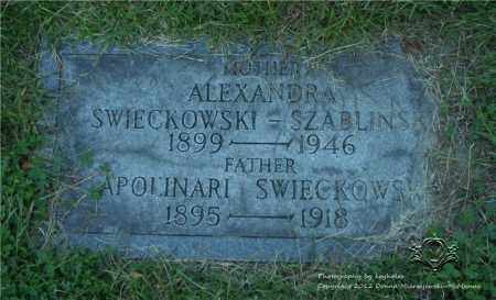 SWIECKOWSKI SZABLINSKI, ALEXANDRA - Lucas County, Ohio | ALEXANDRA SWIECKOWSKI SZABLINSKI - Ohio Gravestone Photos