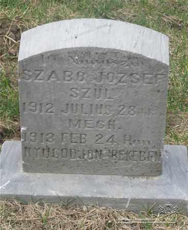 SZABO, JOZSEF - Lucas County, Ohio | JOZSEF SZABO - Ohio Gravestone Photos