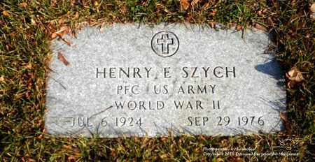 SZYCH, HENRY E. - Lucas County, Ohio   HENRY E. SZYCH - Ohio Gravestone Photos