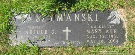SZYMANSKI, ARTHUR C. - Lucas County, Ohio | ARTHUR C. SZYMANSKI - Ohio Gravestone Photos